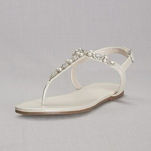 Pearl and Crystal T-Strap Sandal